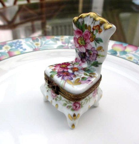 Limoges French Porcelain Trinket Box Hand Painted by AlwaysSeeking, $128.00