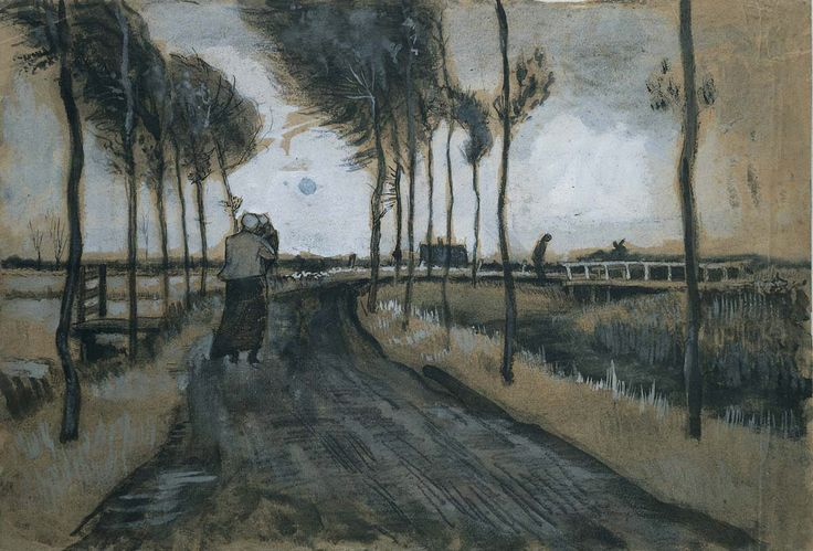 Great art from Art Authority for iPad: Landscape with woman and child by Gogh, Vincent van
