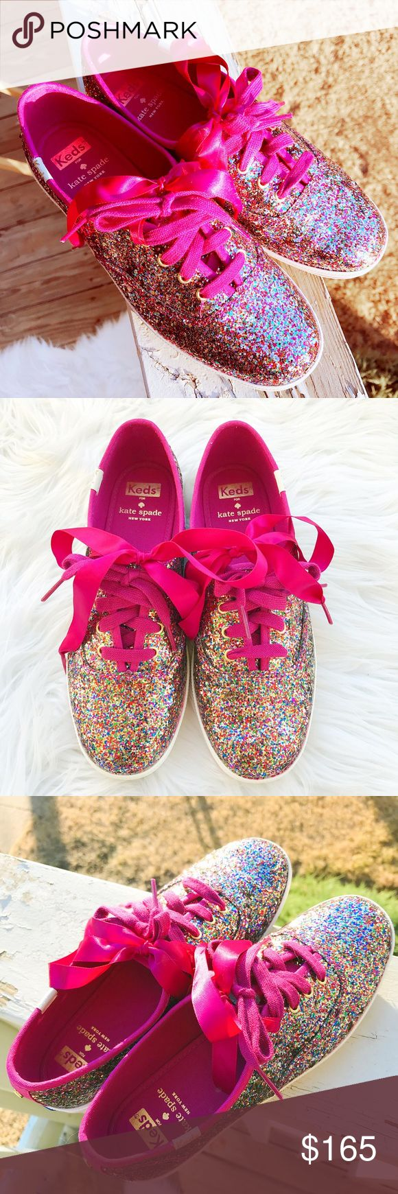 🎀Kate Spade x Keds Sneakers🎀 💟Beautiful sparkly multi color glitter sneakers; 🎀Brand new, only been tried on; In perfect condition, no damages; ✔️All items 100% Authentic; ⛔️NO TRADES; 💰REASONABLE offers will only be considered through the offer button. NO lowballs, please; 🌷Smoke free, pet free home; 🚫Promotion of other closets in my listings is not appreciated and will be blocked; 💸BUNDLE and save!!   💋Happy Poshing💋 kate spade Shoes