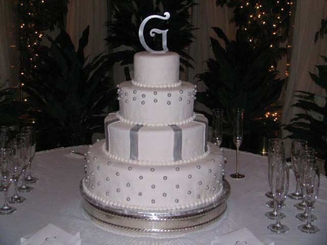 white and silver wedding cake 4 tier all fondant silver and white cake cake cake 27226
