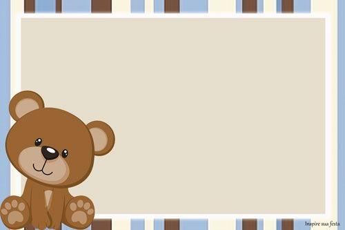 Decoración baby Shower niños: Kit de osito para imprimir gratis