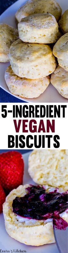 Tender, fluffy and flaky homemade Vegan Biscuits made without any oil. Perfect for the holidays, alongside soup, dipped in gravy