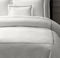 Italian Hotel Satin Stitch White Duvet Cover | Duvet Covers | Restoration Hardware