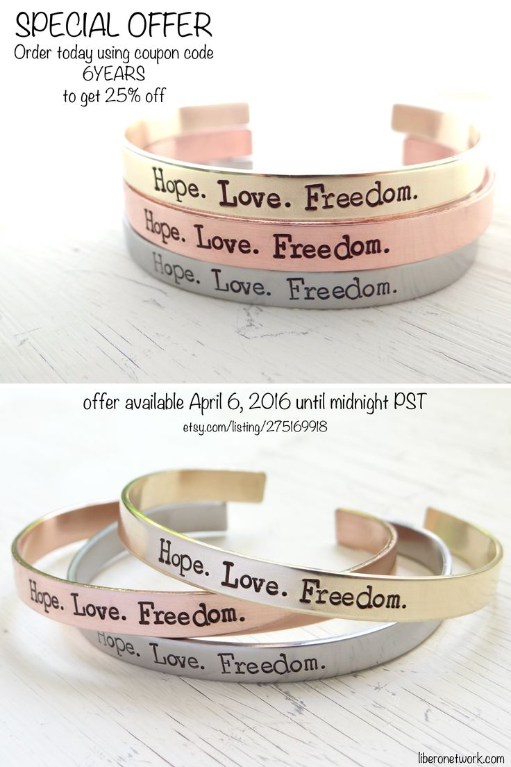 """In honour of our 6-year anniversary, we've partnered with B.Beadazzled Jewelry to create these limited edition, hand-stamped bracelets. Get 25% off using code """"6YEARS"""" today only! 