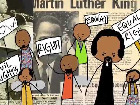 MLK, Jr. cartoon video for kids homeschool