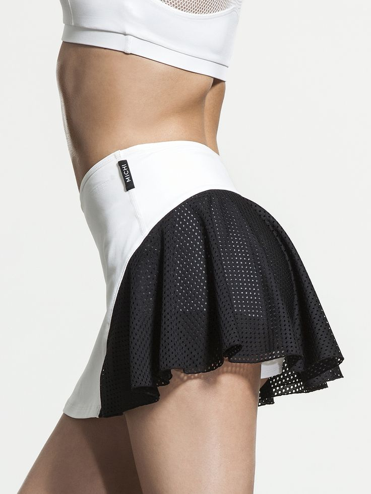 Deuce Skirt by MICHI in White/Black