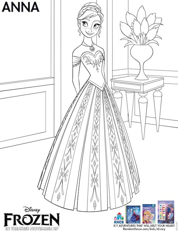 Disneys FROZEN Coloring Pages And Printouts Mazed