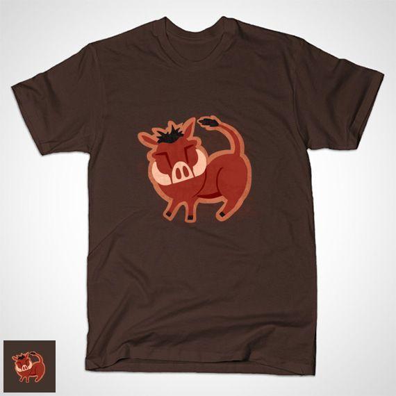 WARTHOG KING T-Shirt - Lion King T-Shirt is $14 today at TeePublic!