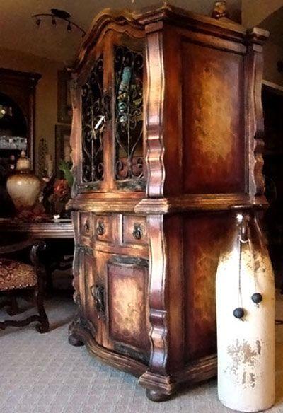 Rustic Wood Furniture, Tuscan Furniture, Hand Painted Furniture, Tuscany  Decor, Tuscan House, Tuscan Style, Tuscan Art, Tuscan Design, Spanish Style