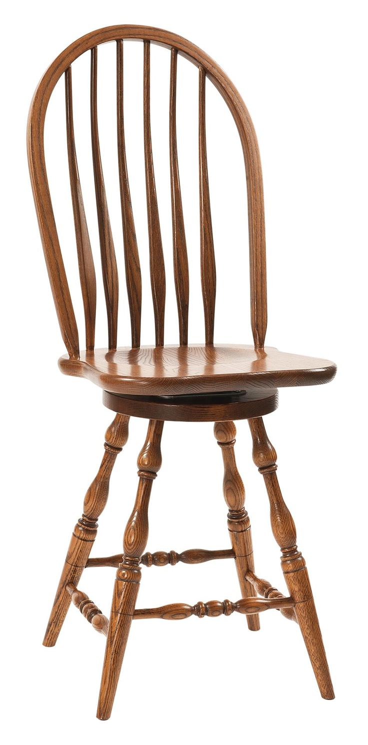 Amish furniture bristol pa - Amish Bent Feather Windsor Bar Stool With Swivel