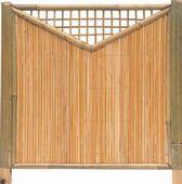 Bambuszaun Shanghai Sichtschutz Bambus mit Stabe von 12mm und Rahmen von 5cm