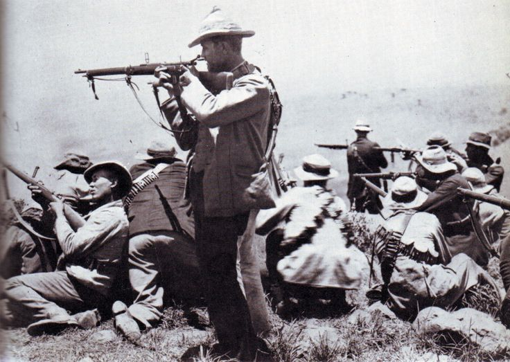 Boer Riflemen at the Battle of Colenso on 15th December 1899 during the Boer War