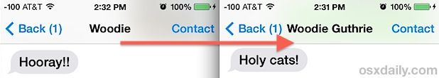 Set Messages to Display Full Names in iOS 7