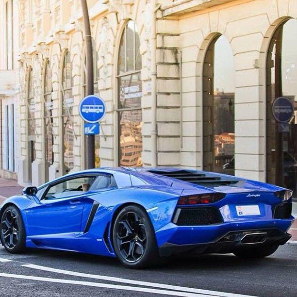 Chevy Marketing And Lamborghini Aventador On Pinterest: Gorgeous Blue Lamborghini Aventador