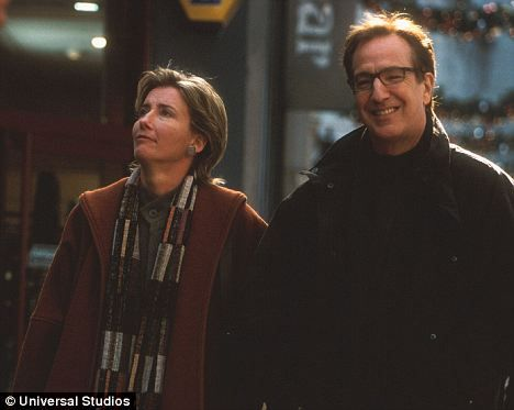Alan Rickman and Emma Thompson in Love Actually in 2003 - two of my favorites in a favorite movie!