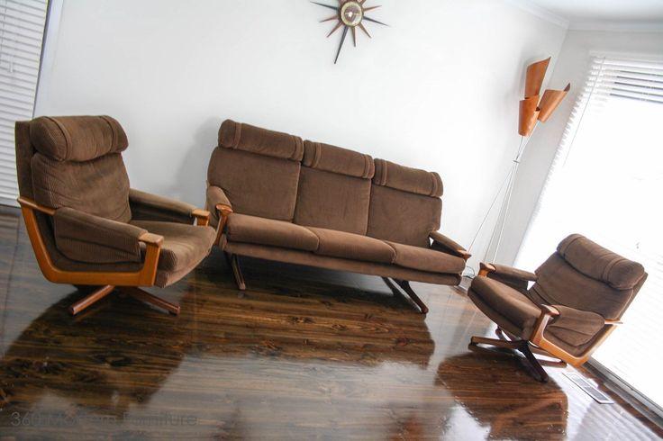 MID Century MODERN Tessa T21 Swivel Armchairs Lounge Suite 3 Seater Couch Retro Vintage in Narre Warren 360 MODERN, VIC   eBay