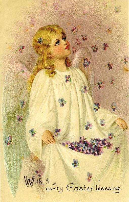 Download Free Vintage Easter Angel Cards | Beautiful ...