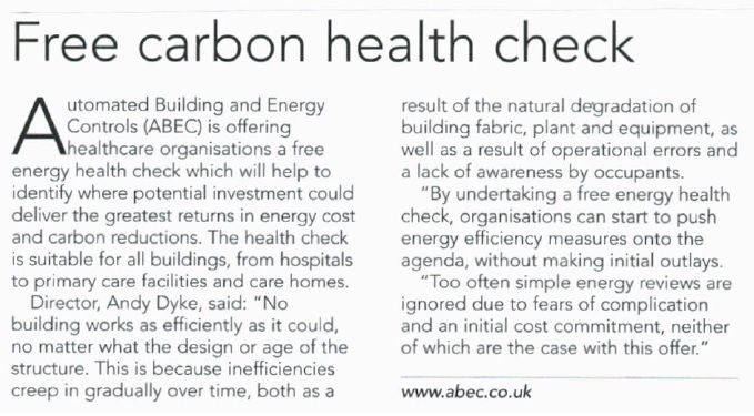 Free carbon health check