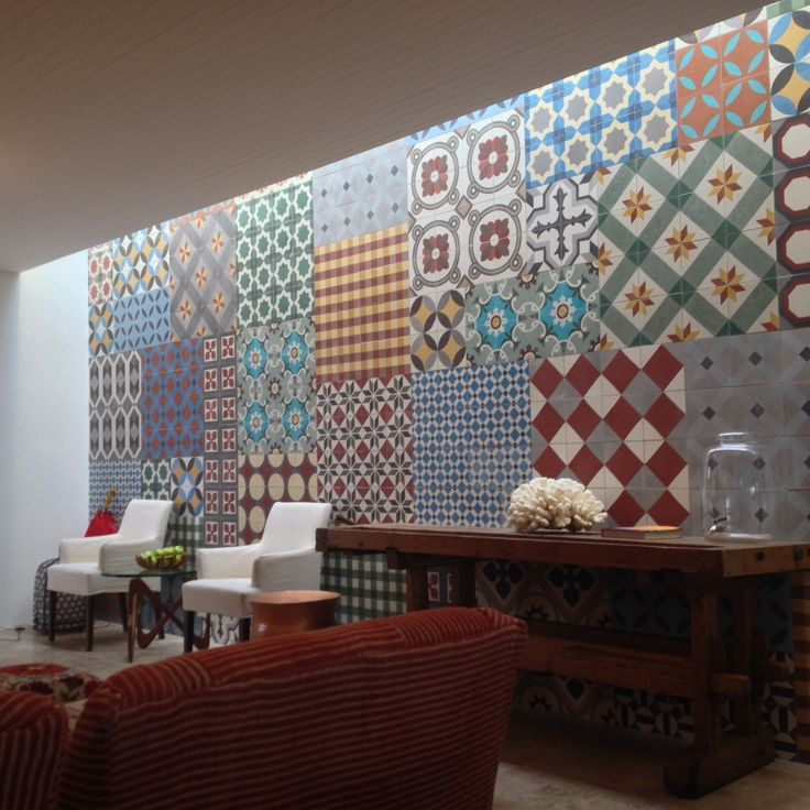 colorful tiles on the walls