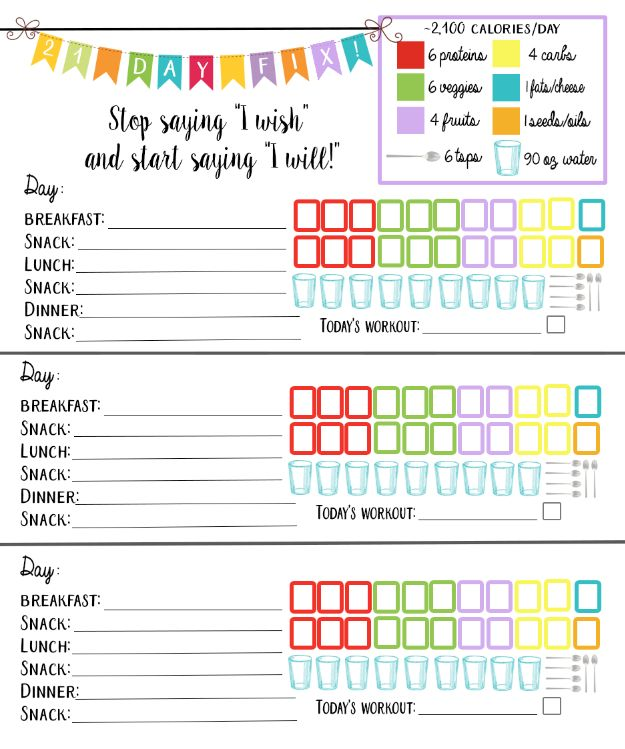 It's just an image of Exceptional Printable Meal Tracker