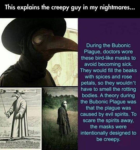 So I wonder how many of the patients actually died of heart attacks and not the plague??