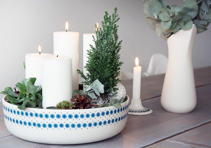 Hvid adventsdekoration - nem og smuk hjemmelavet dekoration