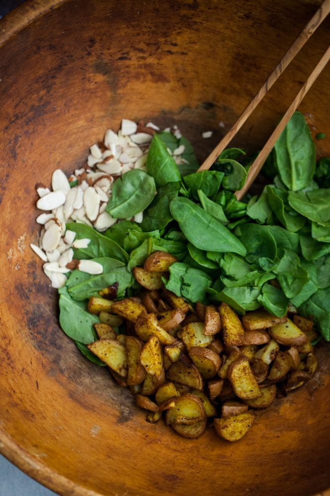 Spinach Curried Red Potato Salad   Recipe   Spinach ...