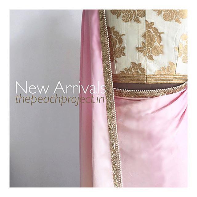 Shop our hottest new arrivals on thepeachproject.in New products being added everyday! .#pink #white #gold #sari #thepeachproject #indianfashion #desistyle #saristyle #sariblouse #americandesi #indiansummer #indianfashion #indianwedding #desibridesmaids #torontolife #californiagirls #dubaidesigner #bollywood #trousseau #sangeet #cocktail #lehenga #lengha #diwali #diwalicollection #bollywoodfashion #indianweddingsvancouverbc #londondesi #engagementshoot #ombre