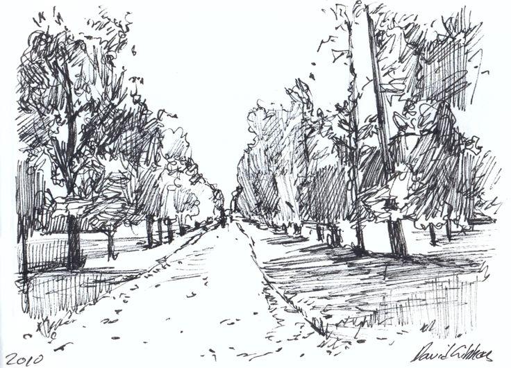 Line Drawing Landscape Artists : Best landscape drawings ideas on pinterest