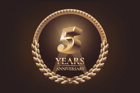 5 Years Anniversary Vector Logo 5 Year Anniversary Anniversary Anniversary Logo