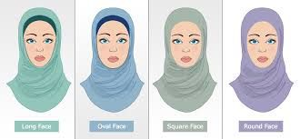Image result for hijab styles for round face