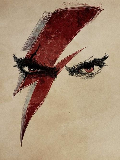 just-art:  Heroes - Kratos and Bowie by Alex Badaró
