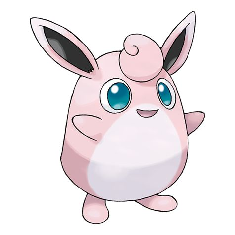 Wigglytuff - 040 - Their fur feels so good that if two of them snuggle together, they won't want to be separated. The body is soft and rubbery. When angered, it will suck in air and inflate itself to an enormous size.  @PokeMasters
