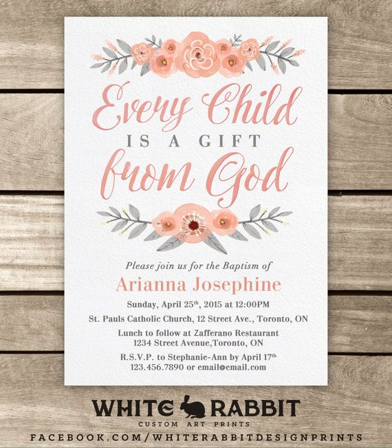 The 25+ best Baptism invitations ideas on Pinterest | Baptism ...