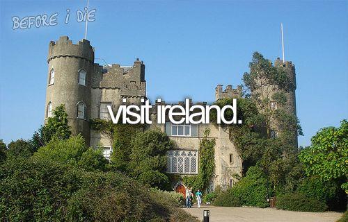 Bucket ListBucketlist, Buckets Lists, Visit Ireland, Castles, Before I Die, Niall Horan, Travel, Places, Bucket Lists