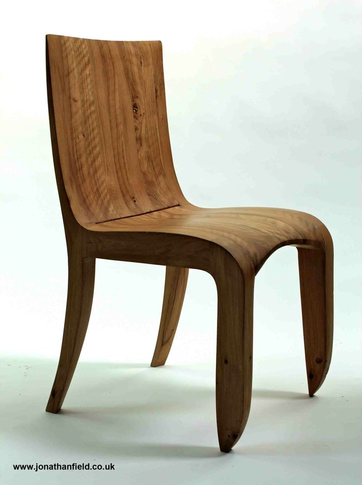 Chair in solid English oak with oil finish. One of one. 44cm W x 48cm D x 85cm H www.jonathanfield.co.uk