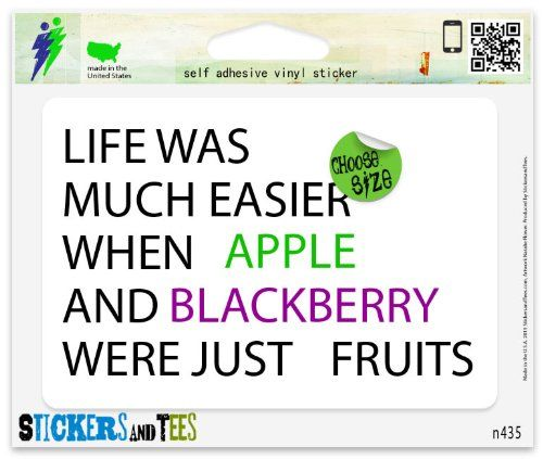 Life was much easier when Apple and Blackberry were just #fruits