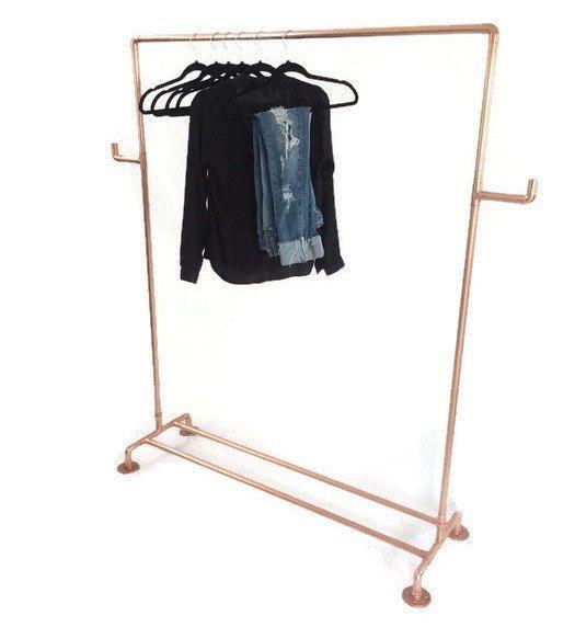 Koperen pijp koperen kleding-rackrail kleren met Side Bars