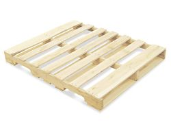 Uline sells recycled wood pallets ($8 each) in case I don't want to go dumpster-diving for grimy old ones :)
