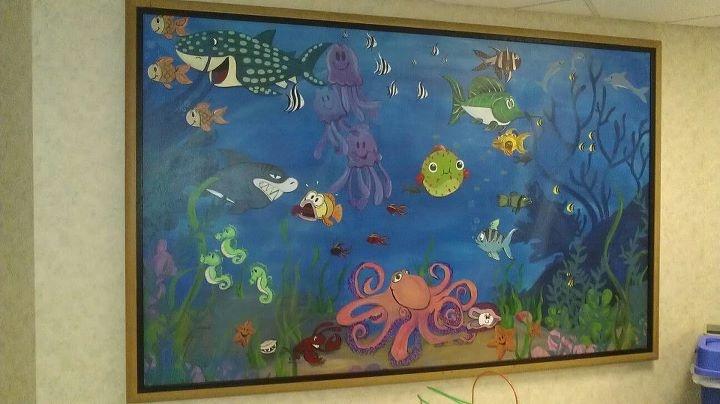 Sharp Pediatrics Ocean Mural