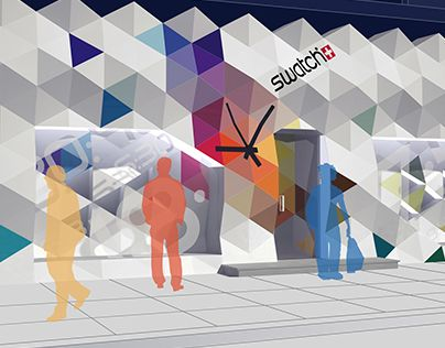 "Check out new work on my @Behance portfolio: ""SWATCH storefront"" http://on.be.net/1OaW3lr"