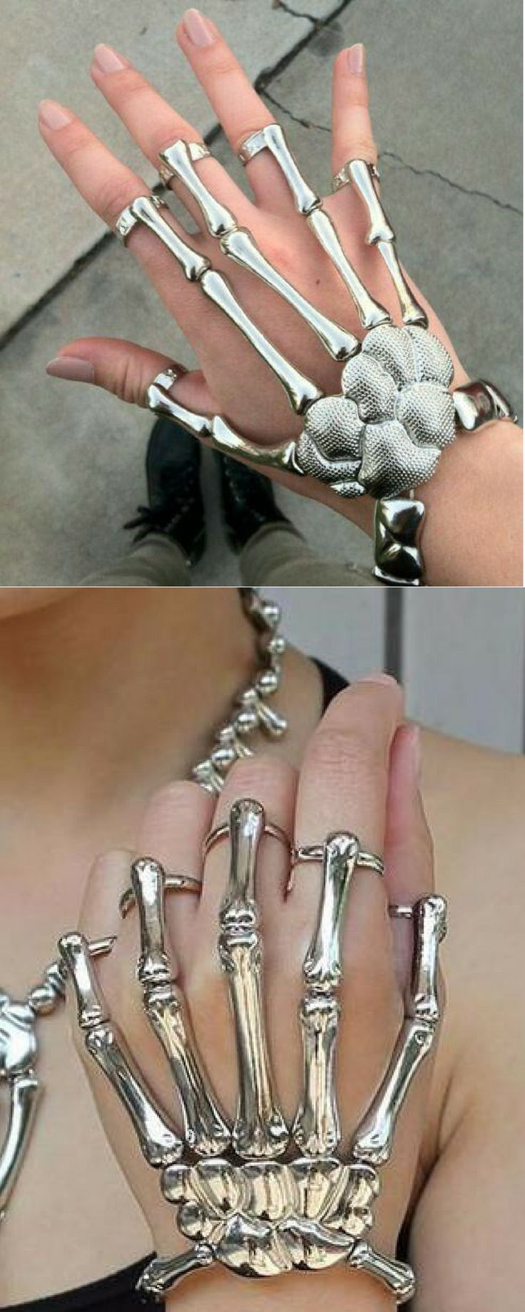 Skeleton Hand (With images) Hand jewelry, Elastic