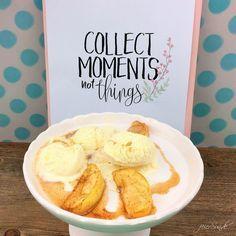 Beim Zubereiten von Essen schaffen wir Momente - passend zu meinem keinen Wintertraum - ein warmer Zimtapfel mit Eis.