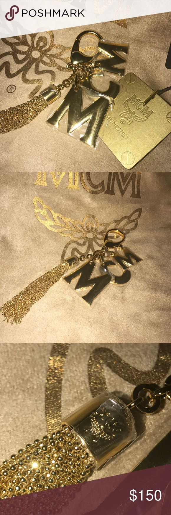 MCM, Brand New BAG Charm/ Key Chain. Stunning MCM bag charm, can also be used as an addition to your key chain. (Does NOT come with anything else) MCM Accessories Key & Card Holders