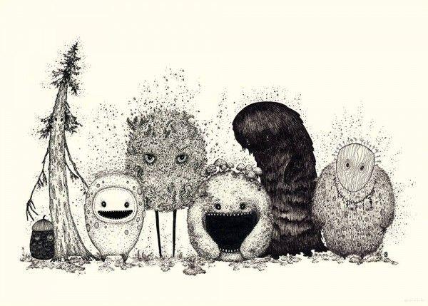 Forest Spirits - Dagens Poster | BoligciousBoligcious