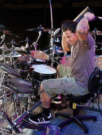 David Silveria - highly skilled drummer for nu-metal king pins, Korn.