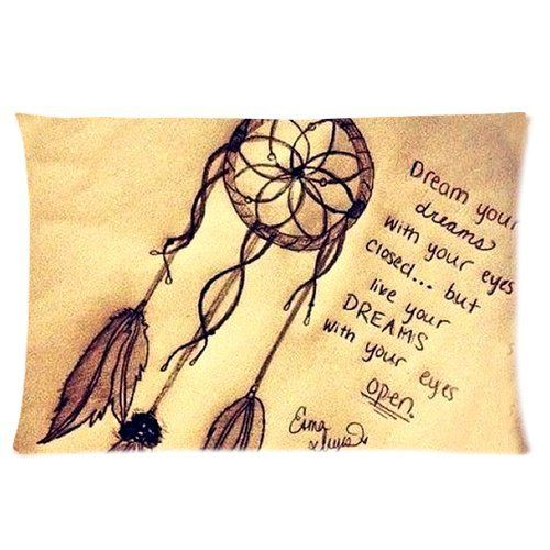 Vintage Retro Dream Catcher Custom Rectangle Pillowcase Pillow Cases Cover 16x24 (one side) Standard Size Cloud Feather Catcher Quotes null,http://www.amazon.com/dp/B00HSZHHXS/ref=cm_sw_r_pi_dp_nt3Ctb1GEBHRK776