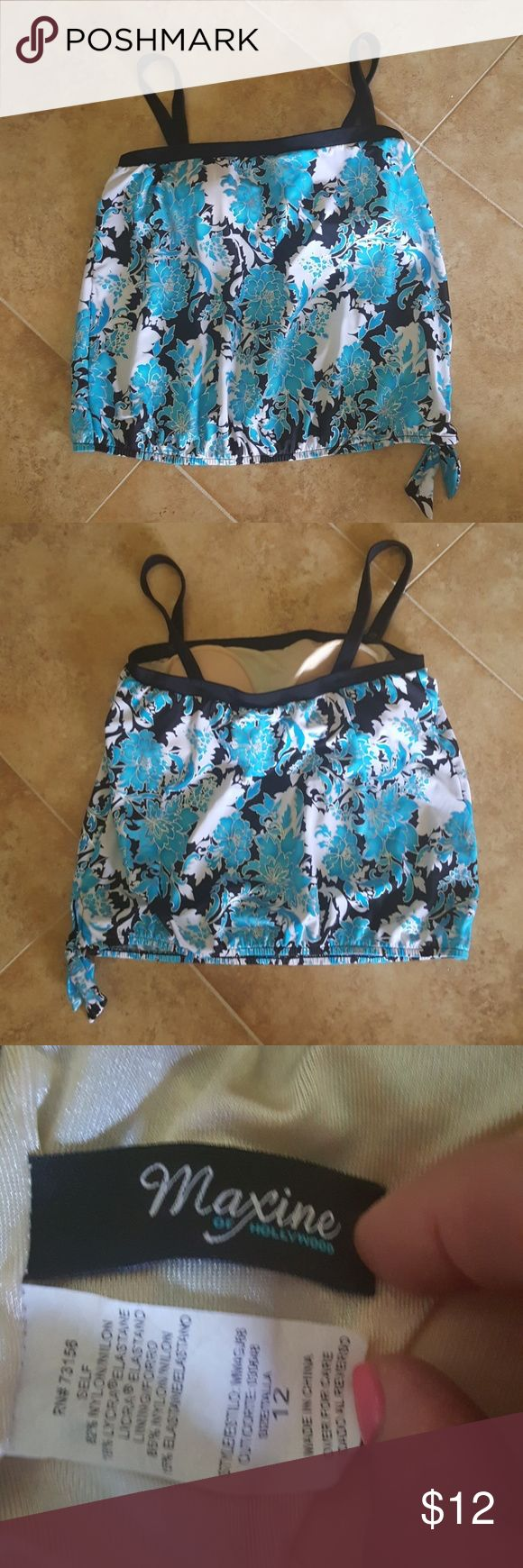 NWOT tankini top by Maxine of Hollywood Size 14 women's tankini top by Maxine of Hollywood. Bra insert and straps can be removed. Maxine of Hollywood Swim