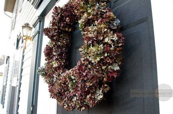 How to make a hydrangea wreath for pennies