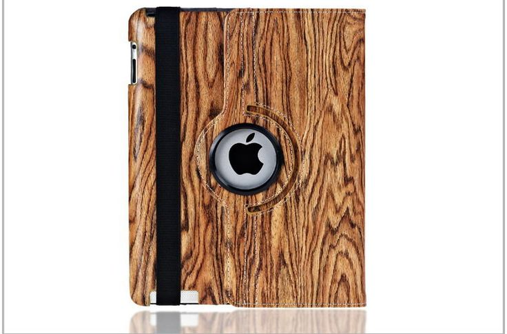 Case with wooden pattern for